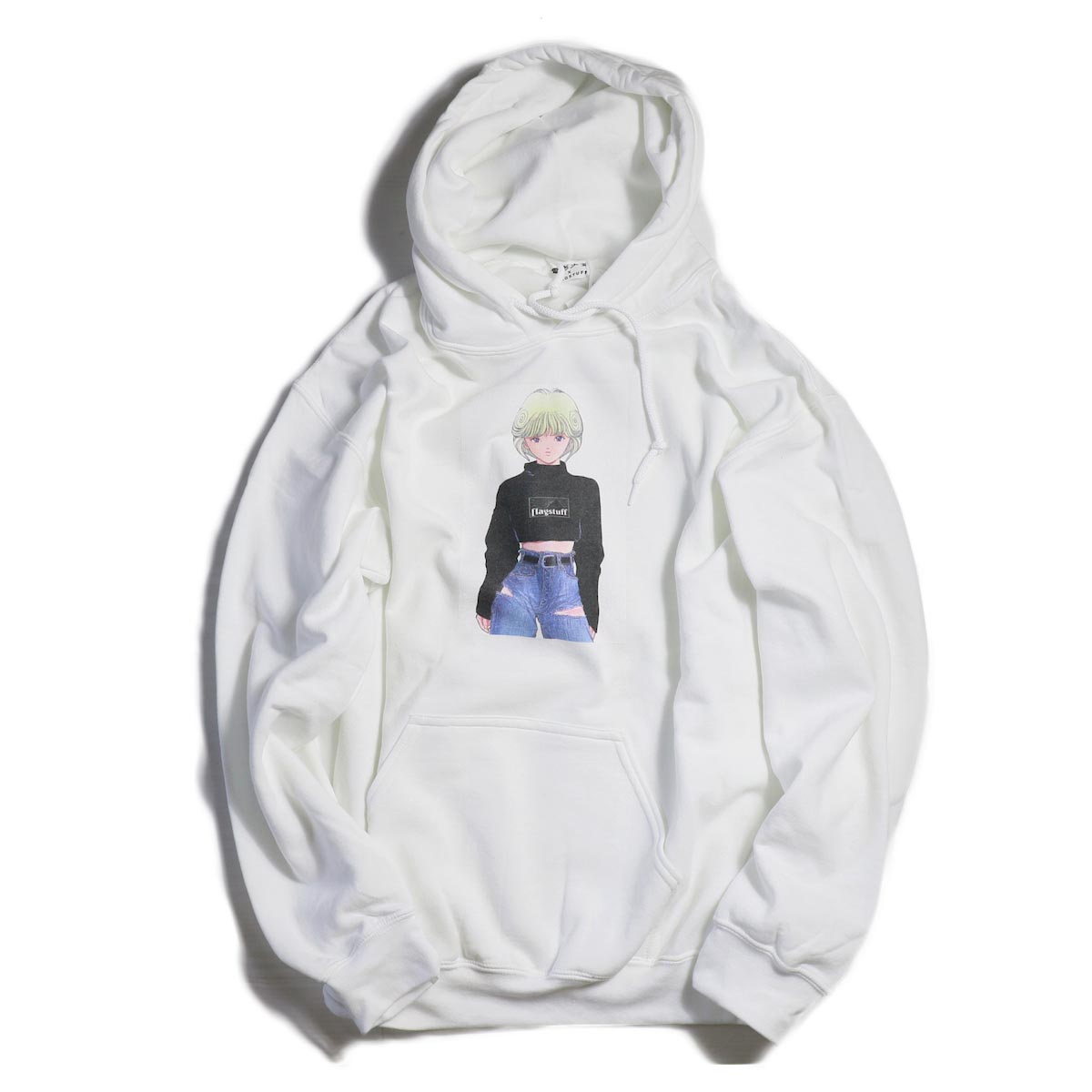 F-LAGSTUF-F × VIDEO GIRL / L/S HOODIE -WHITE