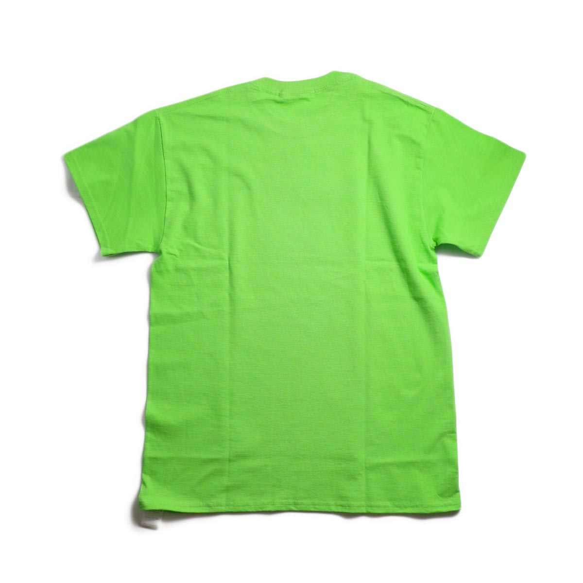 """F-LAGSTUF-F / """"Dream and reality"""" Tee1 -Lime 背面"""