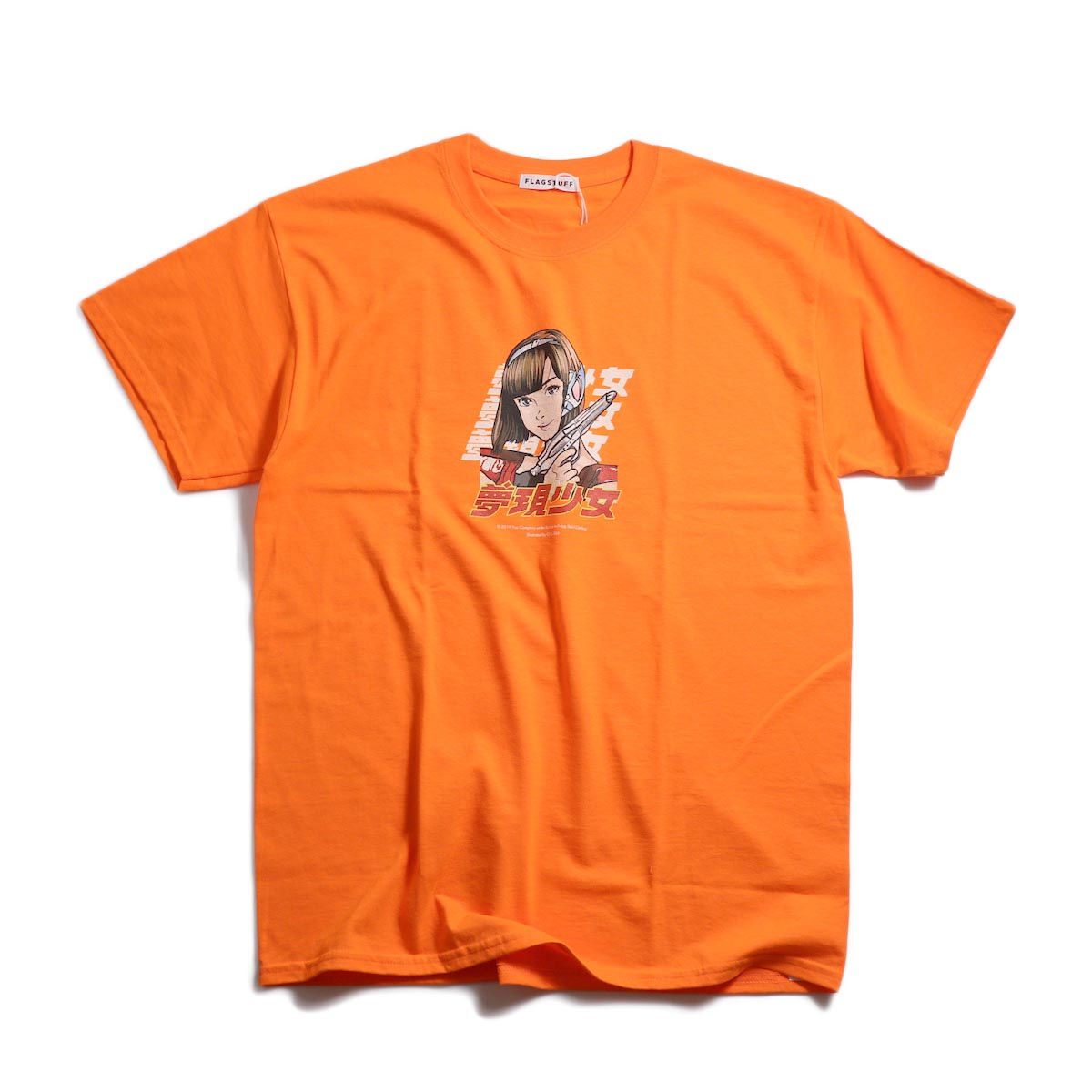 "F-LAGSTUF-F / ""Dream and reality"" Tee2 -Orange"
