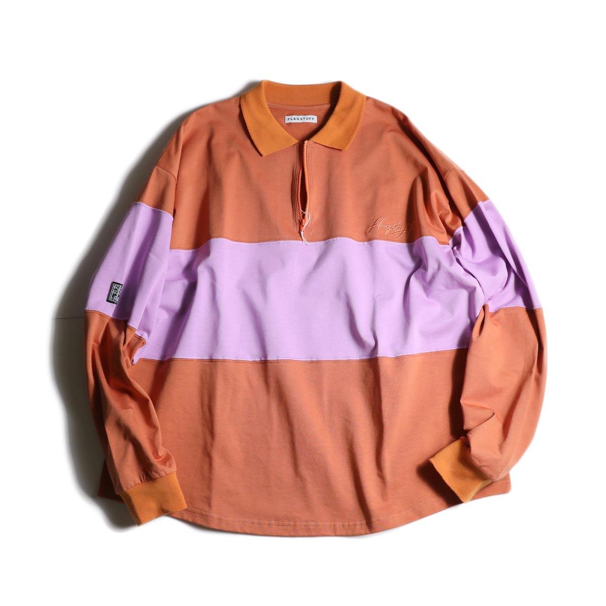 F-LAGSTUF-F  / H/Z L/S POLO SHIRTS (Orange×Purple)