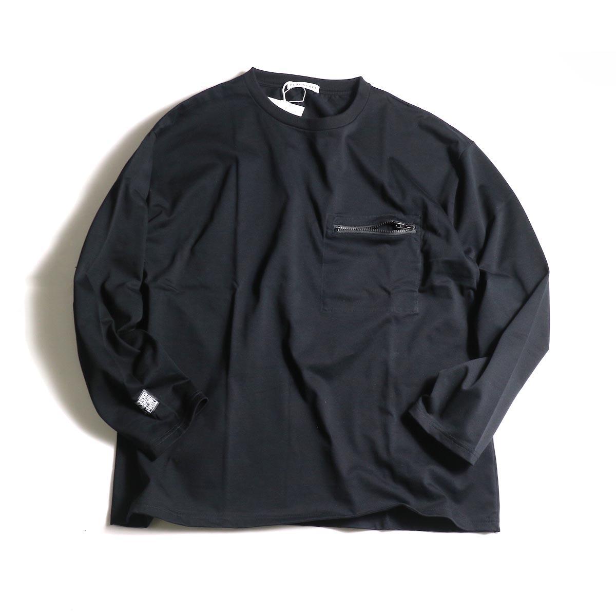 F-LAGSTUF-F  / ZIP BIG L/S Tee (Black)正面