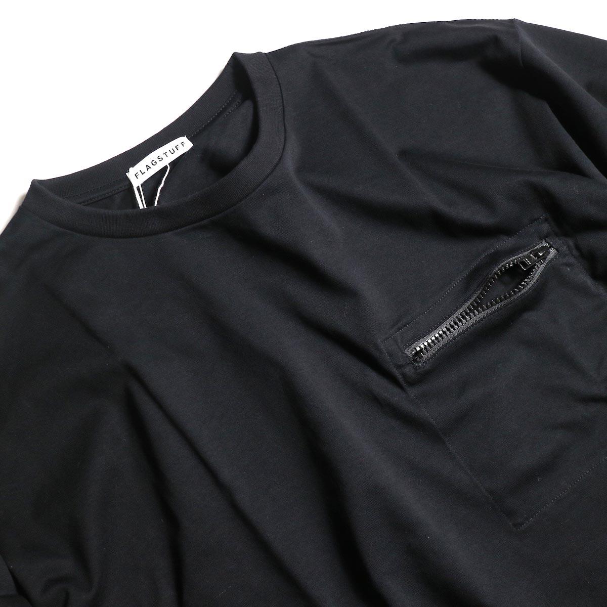 F-LAGSTUF-F  / ZIP BIG L/S Tee (Black)zip