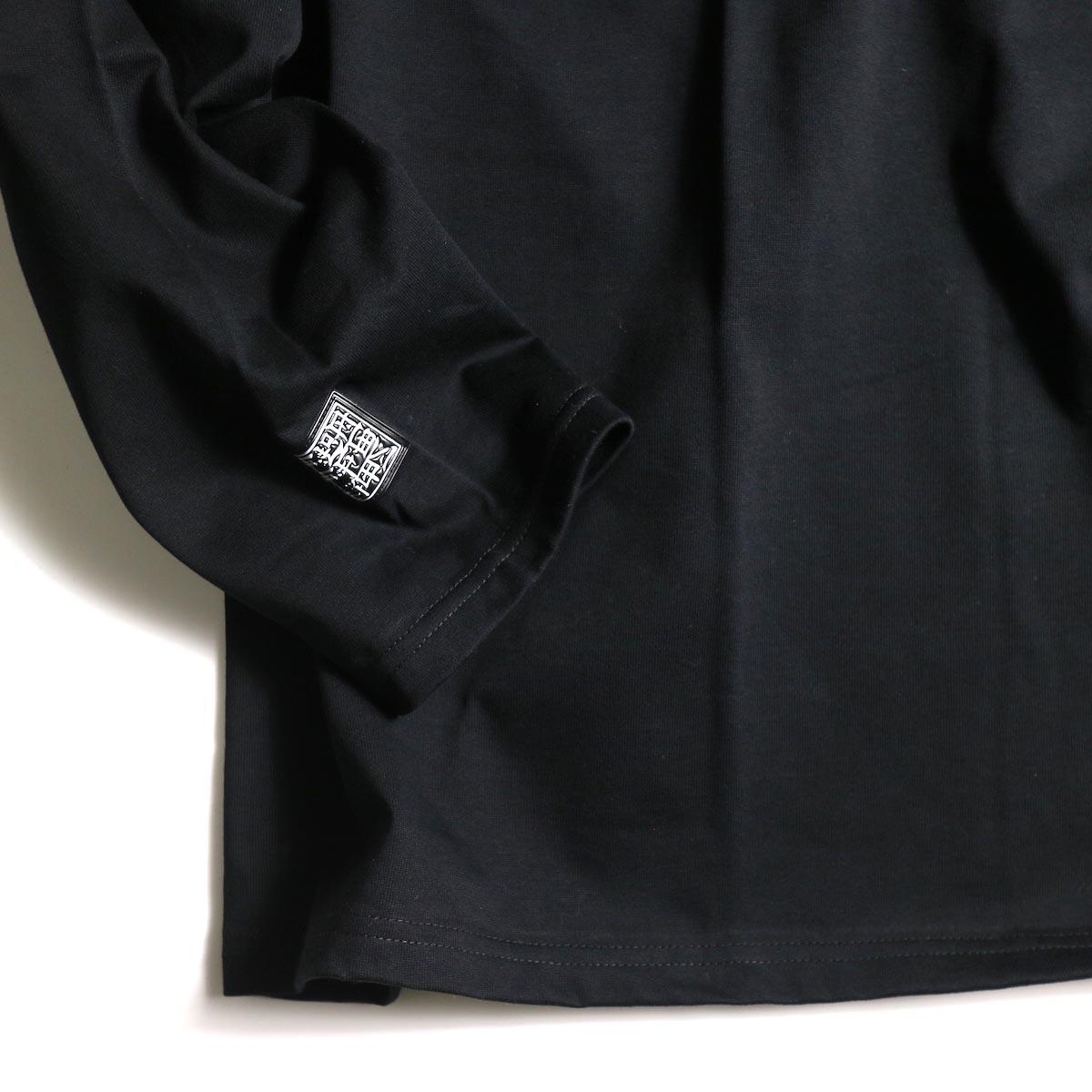 F-LAGSTUF-F  / ZIP BIG L/S Tee (Black)袖
