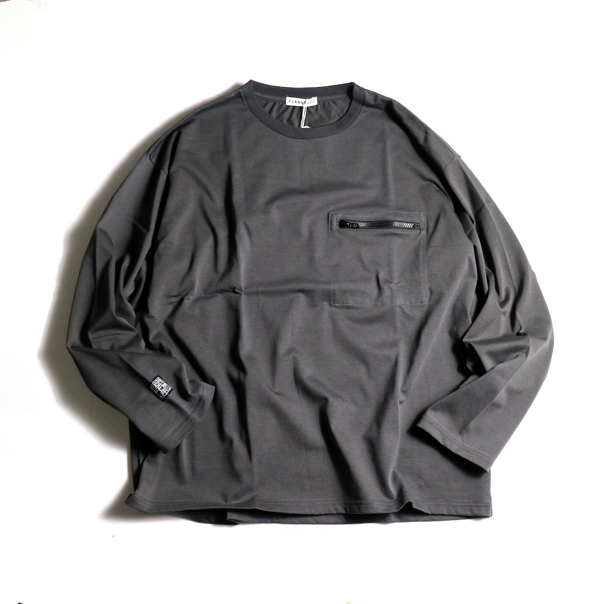 F-LAGSTUF-F  / ZIP BIG L/S Tee (Gray)正面
