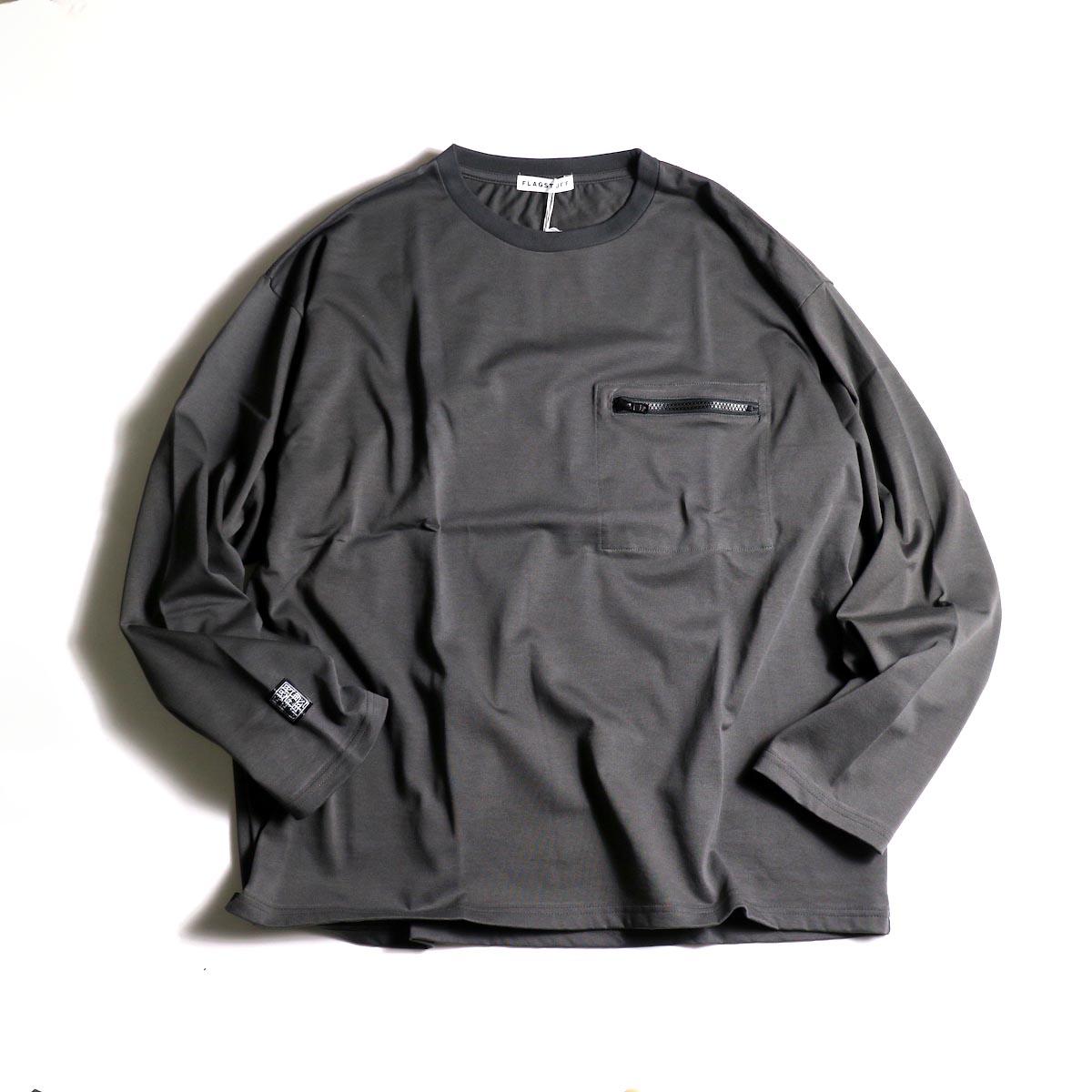 F-LAGSTUF-F  / ZIP BIG L/S Tee (Gray)正面