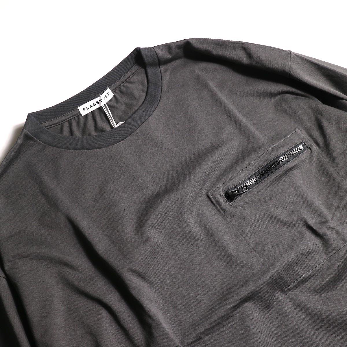 F-LAGSTUF-F  / ZIP BIG L/S Tee (Gray)zip