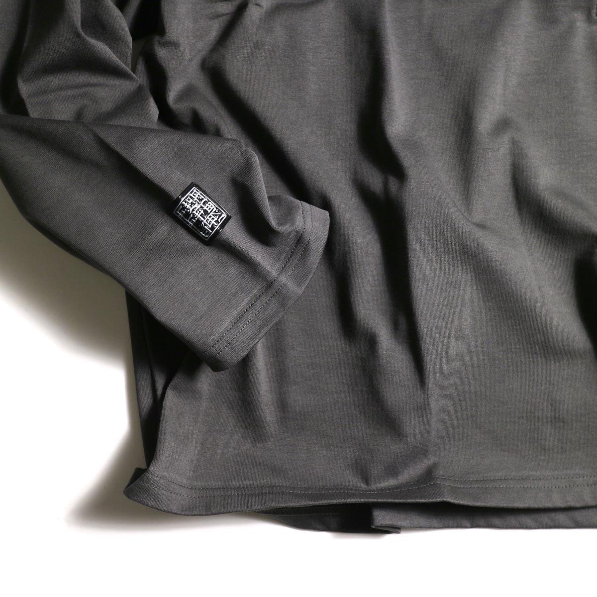 F-LAGSTUF-F  / ZIP BIG L/S Tee (Gray)袖