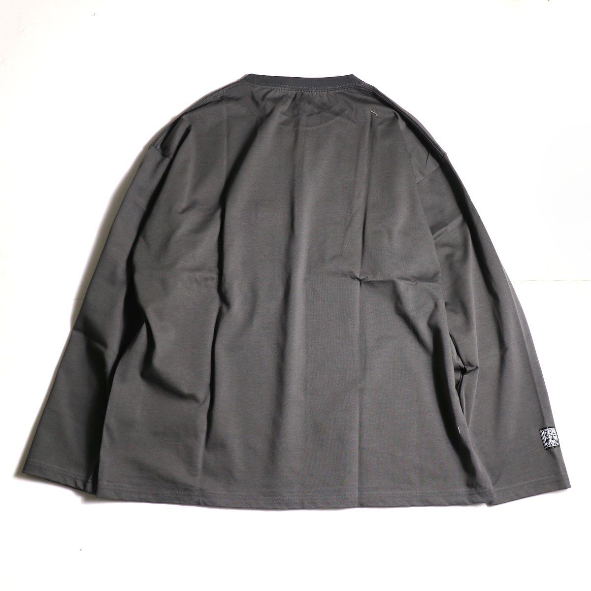 F-LAGSTUF-F  / ZIP BIG L/S Tee (Gray)背面