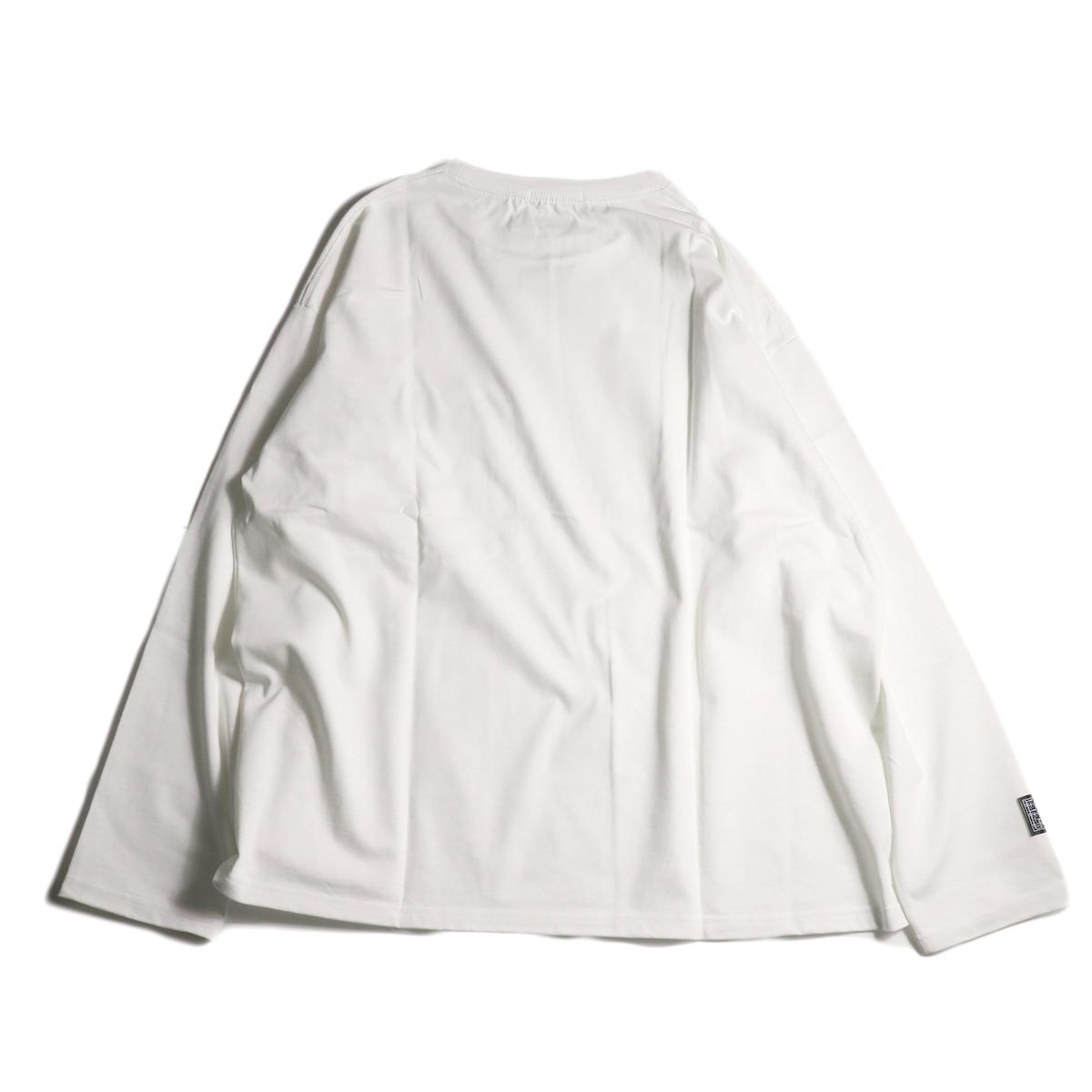 F-LAGSTUF-F  / ZIP BIG L/S Tee (White)背面