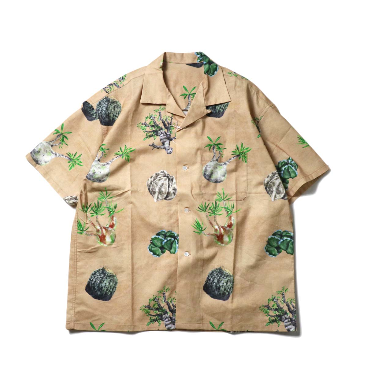 "F-LAGSTUF-F / ""Cactus"" S/S Shirts (Sand)"