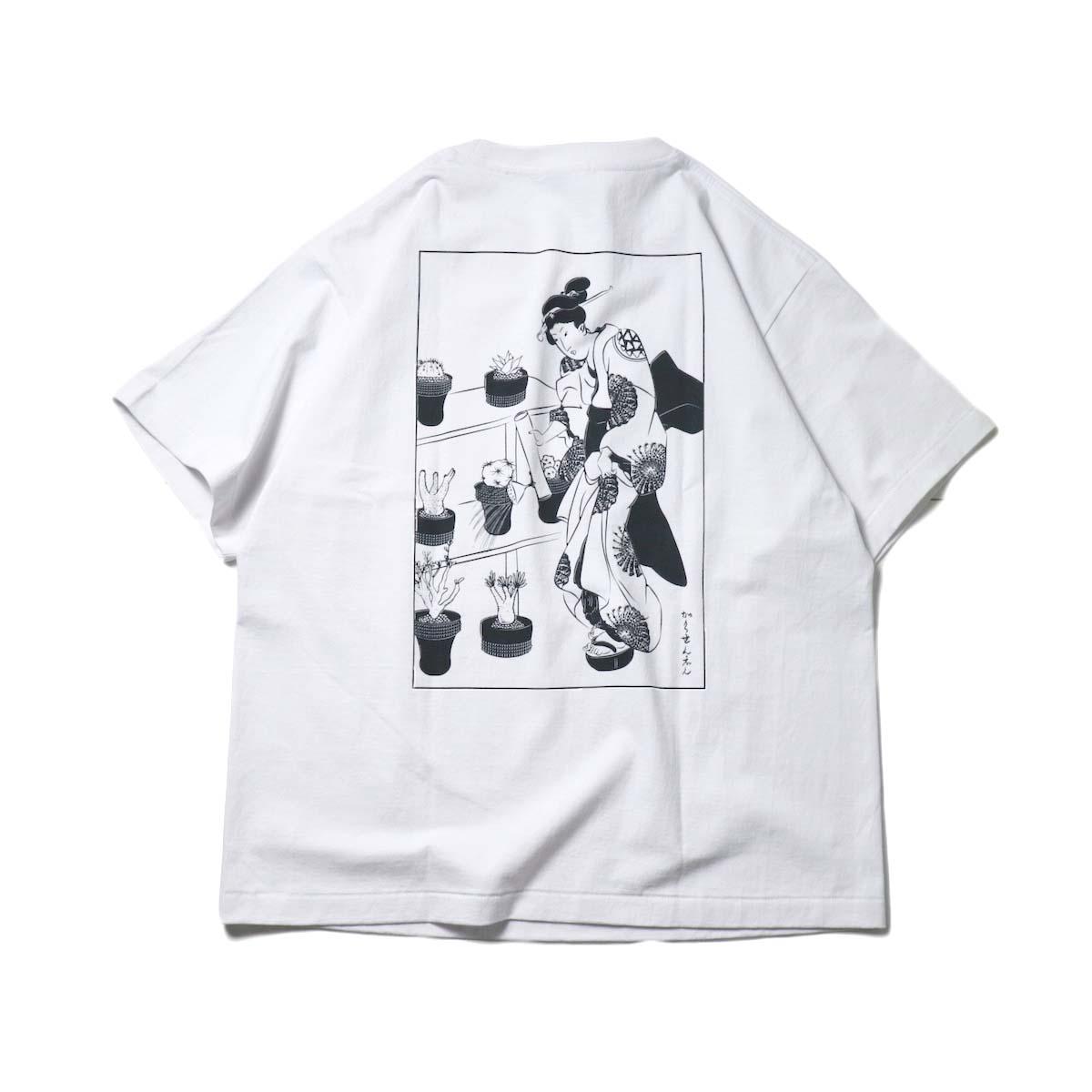 F-LAGSTUF-F × 鶴仙園 × Spycygem / Cactus Tee (White)