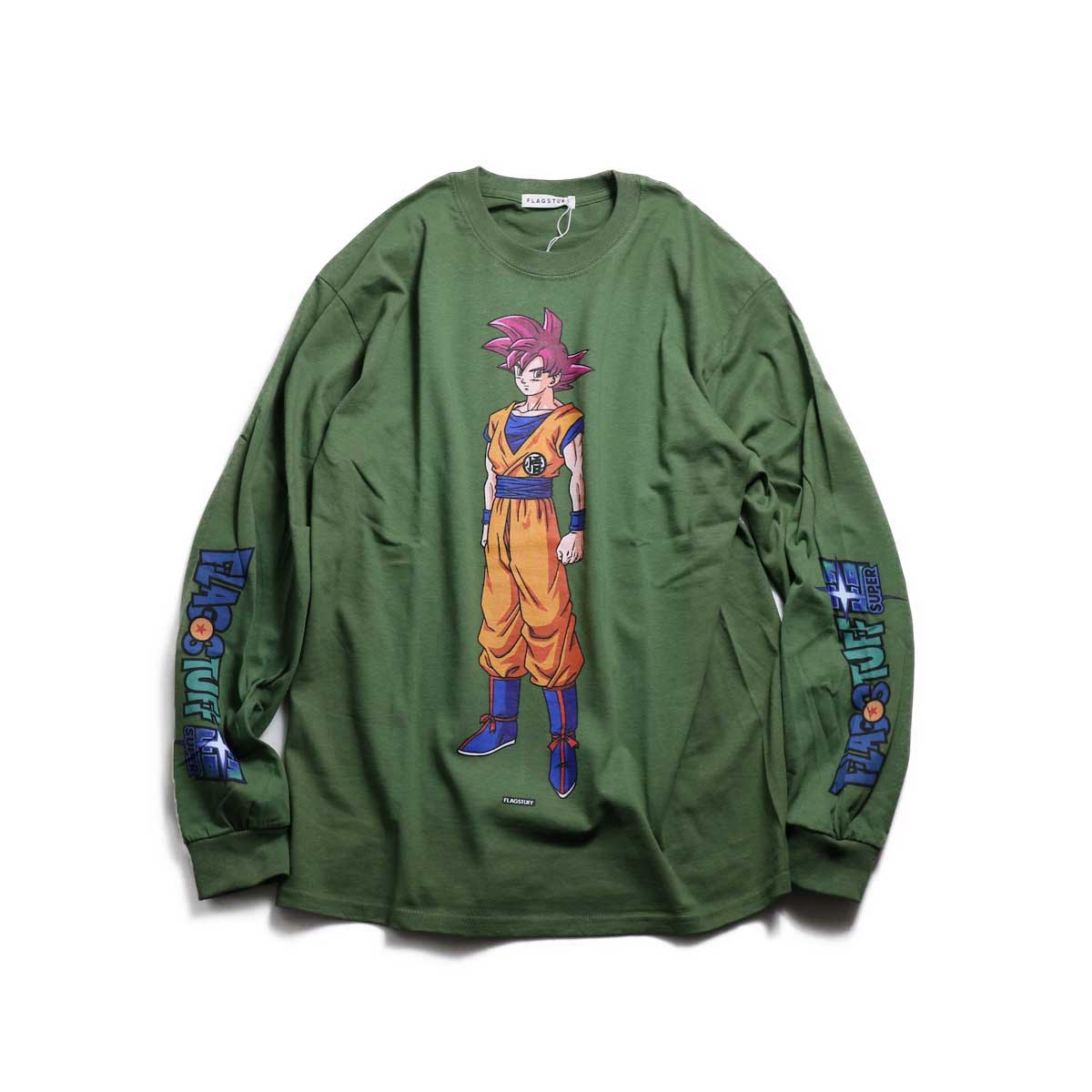 "F-LAGSTUF-F × DRAGON BALL / ""GOKU"" L/S Tee -MG(Green)"