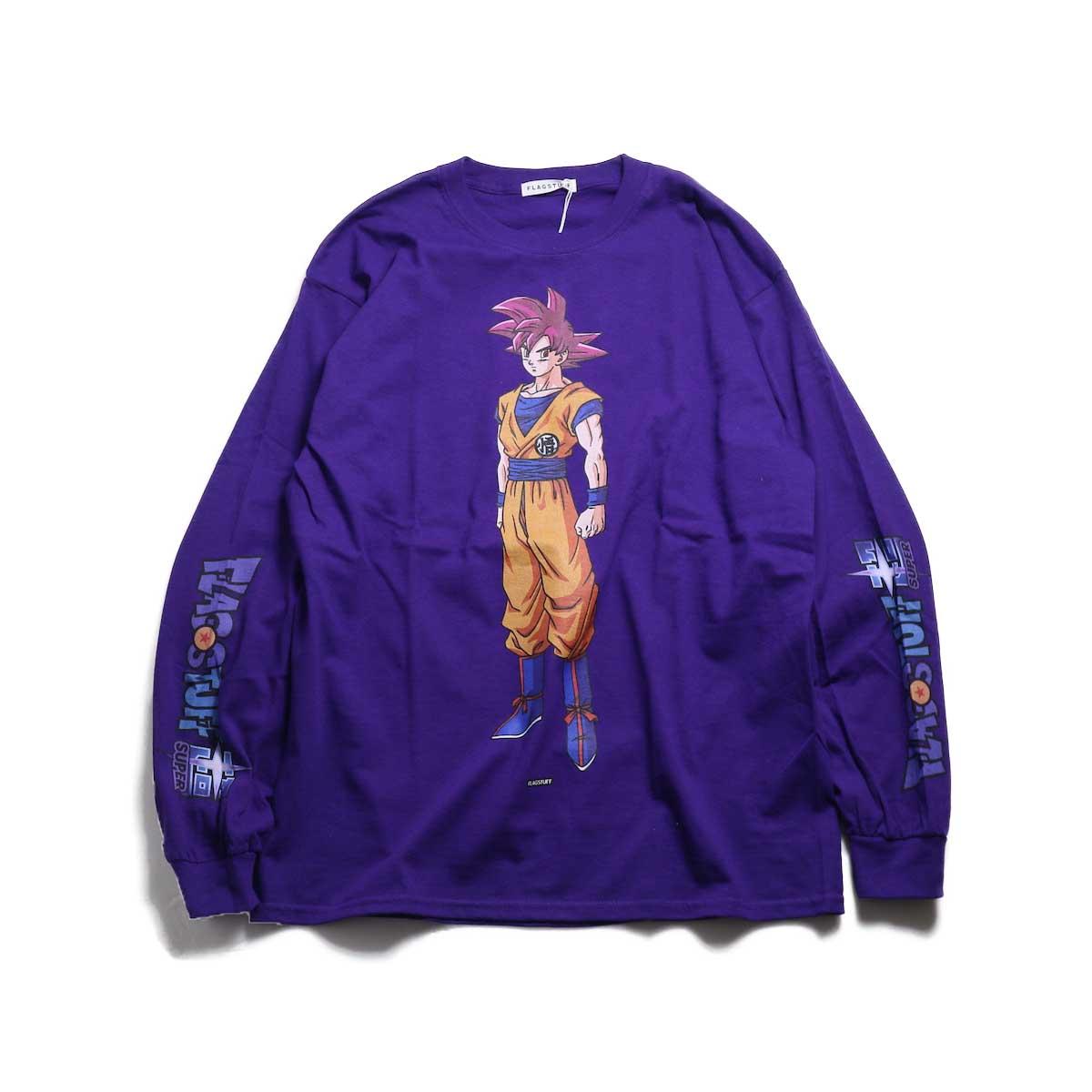 "F-LAGSTUF-F × DRAGON BALL / ""GOKU"" L/S Tee -Purple"