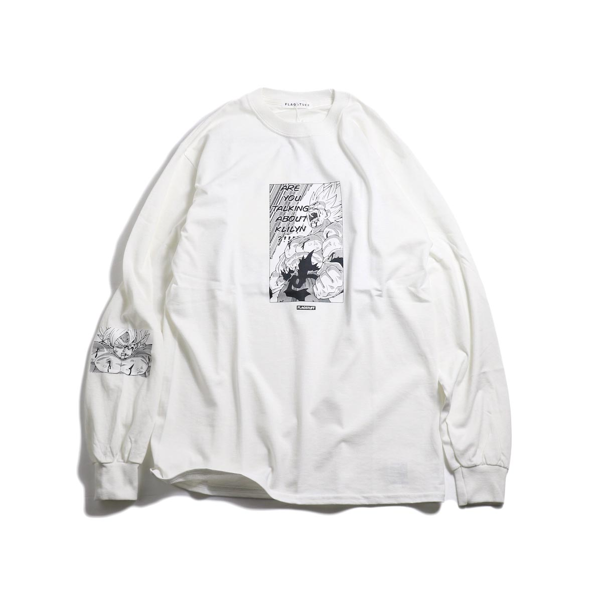 "F-LAGSTUF-F × DRAGON BALL / ""Super saiyans"" L/S Tee -White"