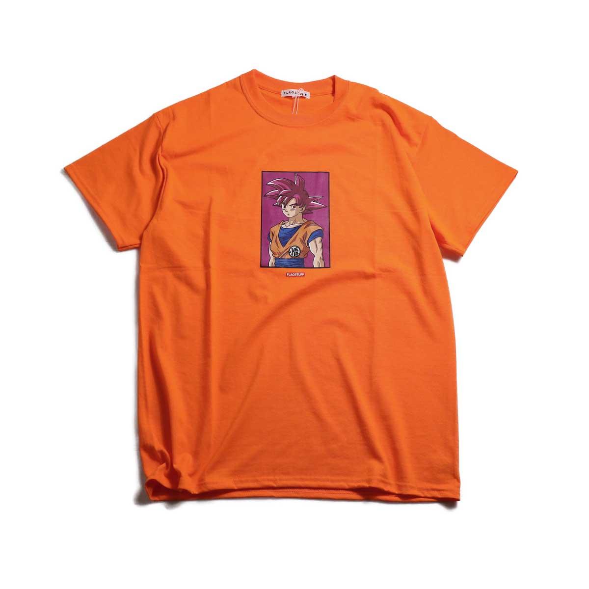 """F-LAGSTUF-F × DRAGON BALL / """"GOKU"""" Tee -Orange"""