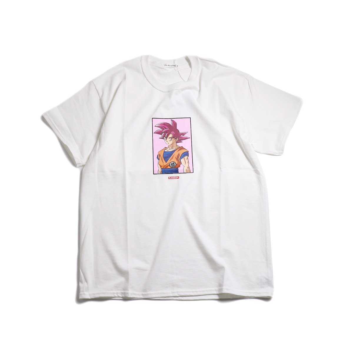 "F-LAGSTUF-F × DRAGON BALL / ""GOKU"" Tee -White"