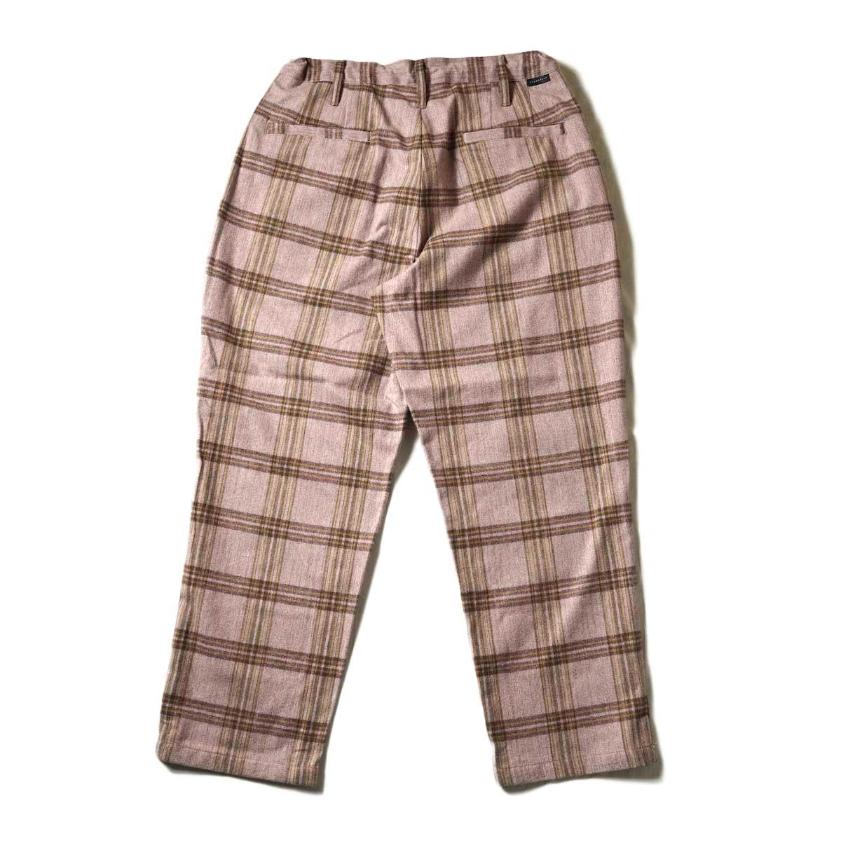 F-LAGSTUF-F / FORWARD PLEATS PANTS (ORIGINAL CHECK / PURPLE)背面