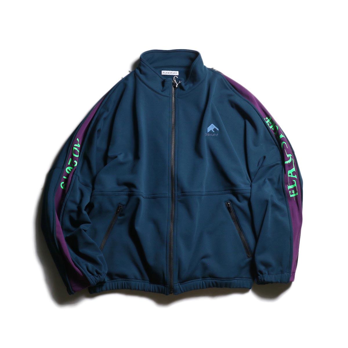 F-LAGSTUF-F  / TRACK JEASEY JKT (Green×Purple)