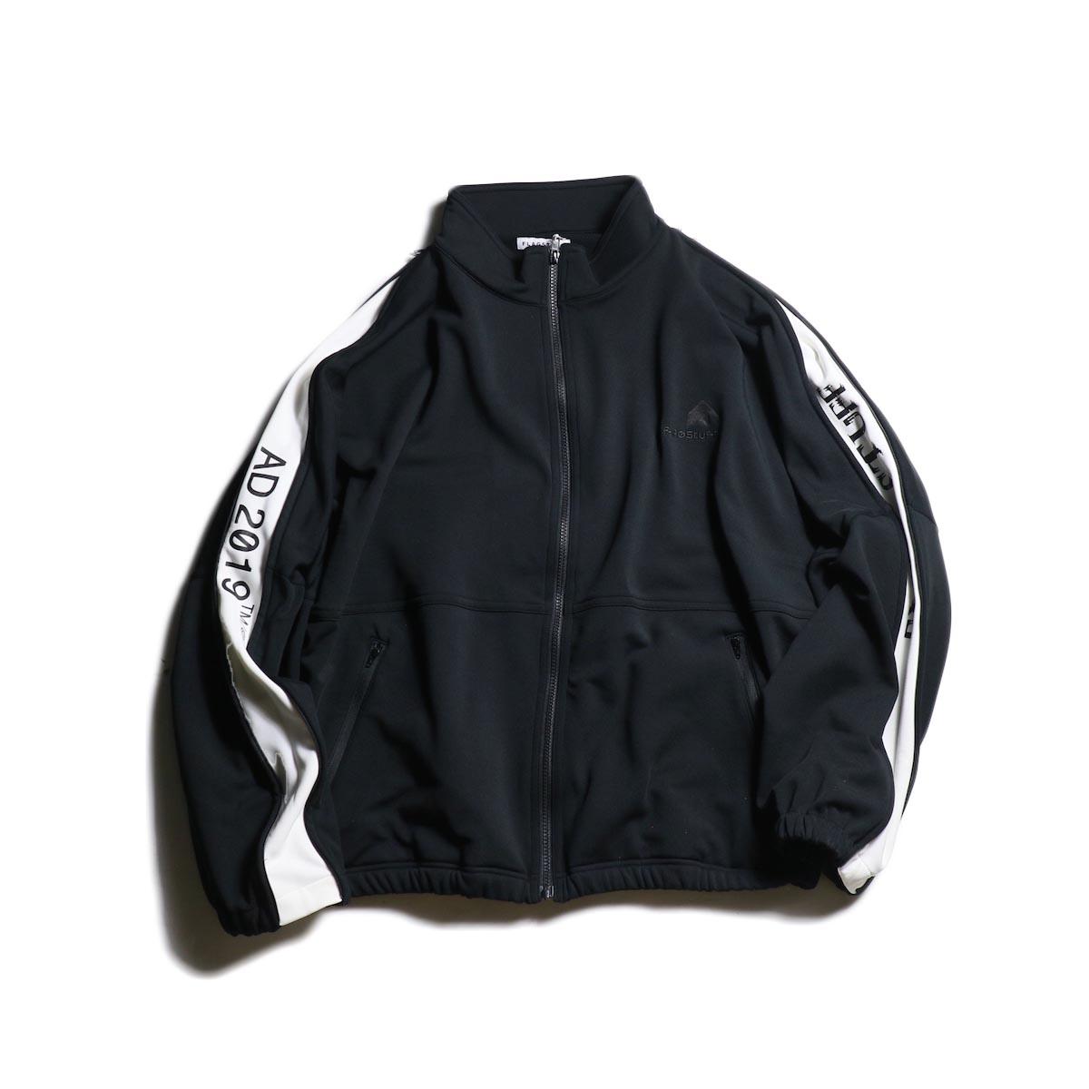 F-LAGSTUF-F  / TRACK JEASEY JKT (Black×White)