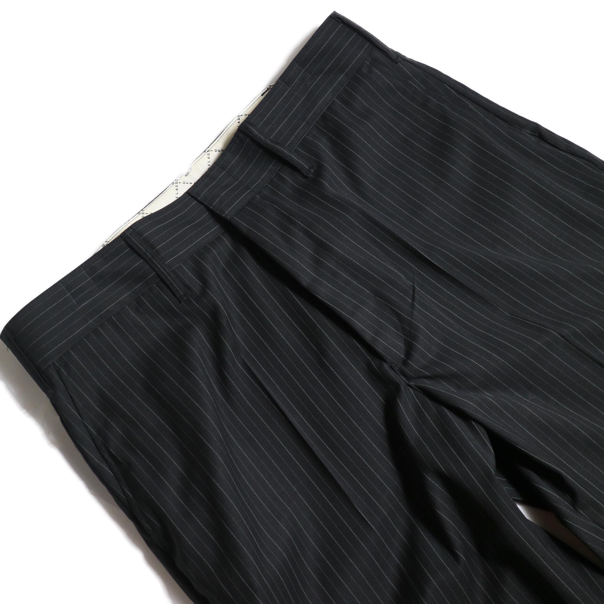 F-LAGSTUF-F  / LOOSE ST PANTS (Black Stripe)ウエスト