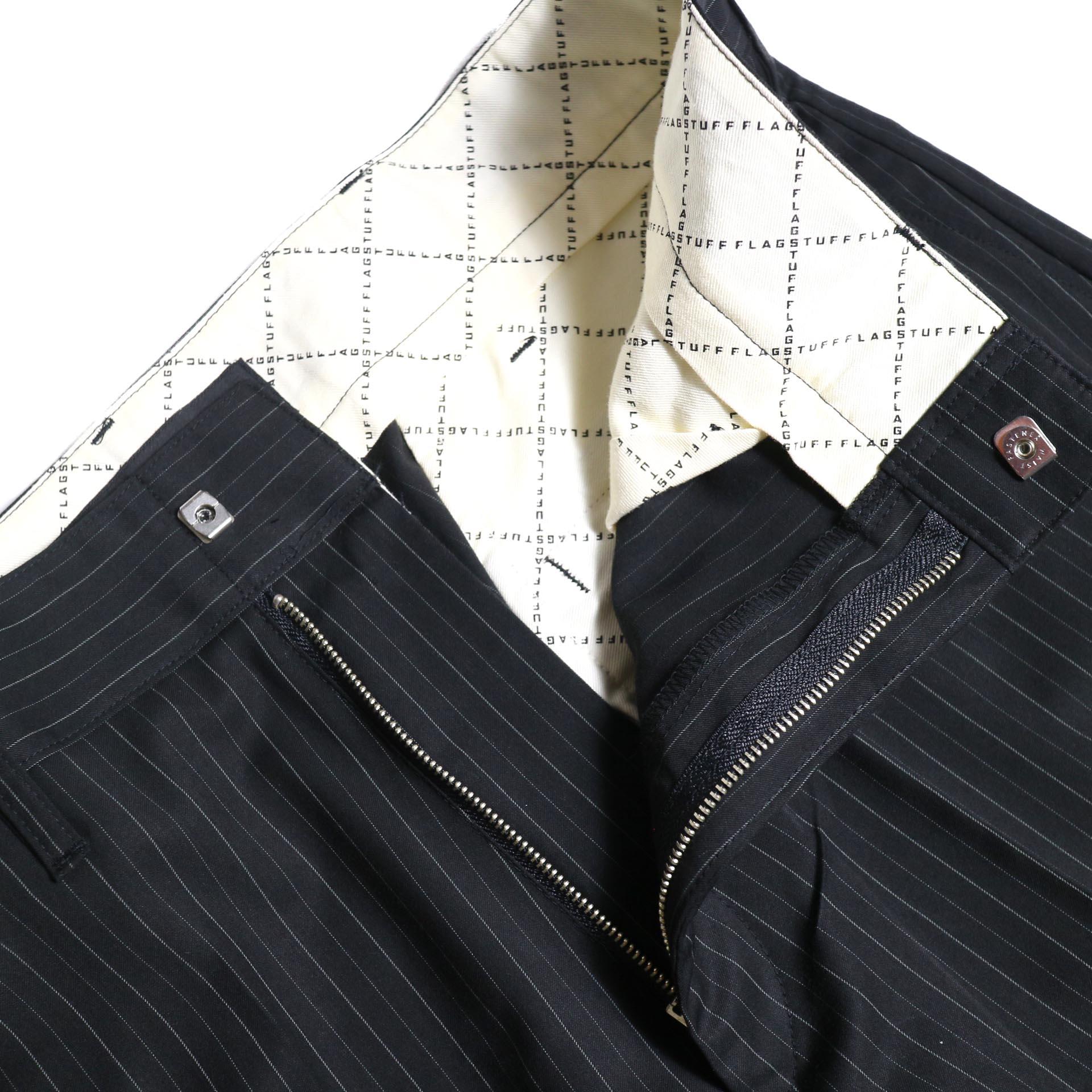 F-LAGSTUF-F  / LOOSE ST PANTS (Black Stripe)ジップフライ