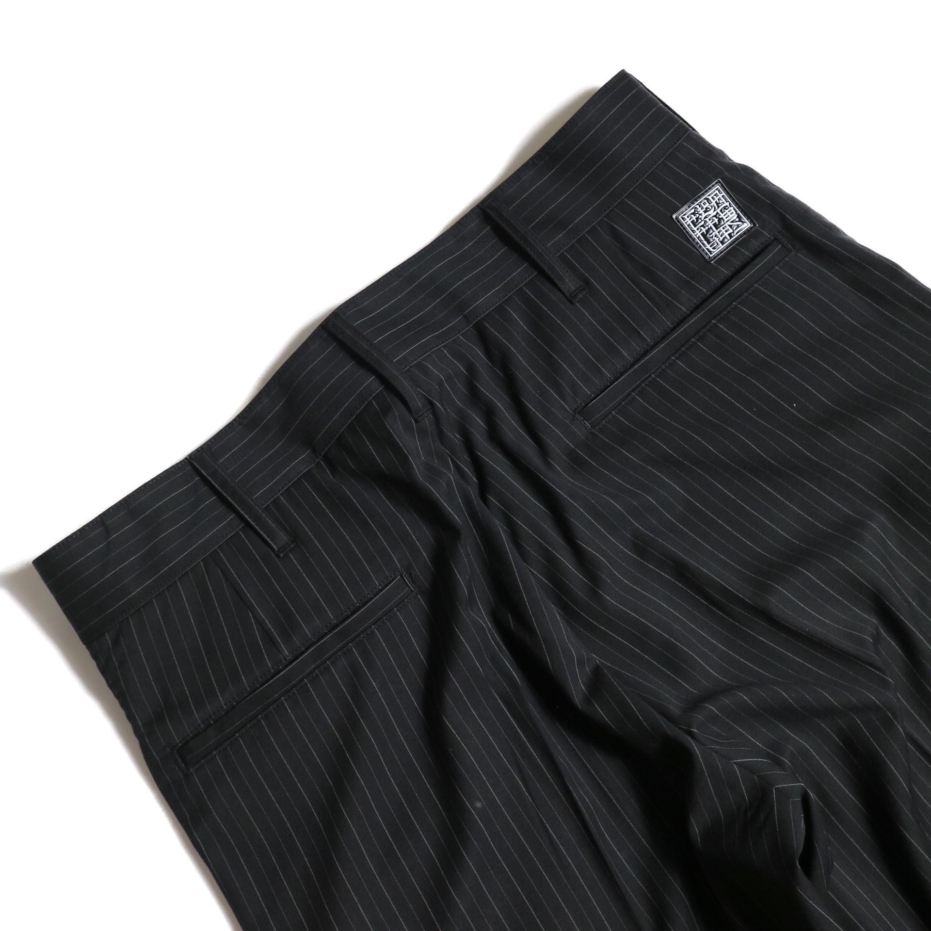 F-LAGSTUF-F  / LOOSE ST PANTS (Black Stripe)ヒップポケット