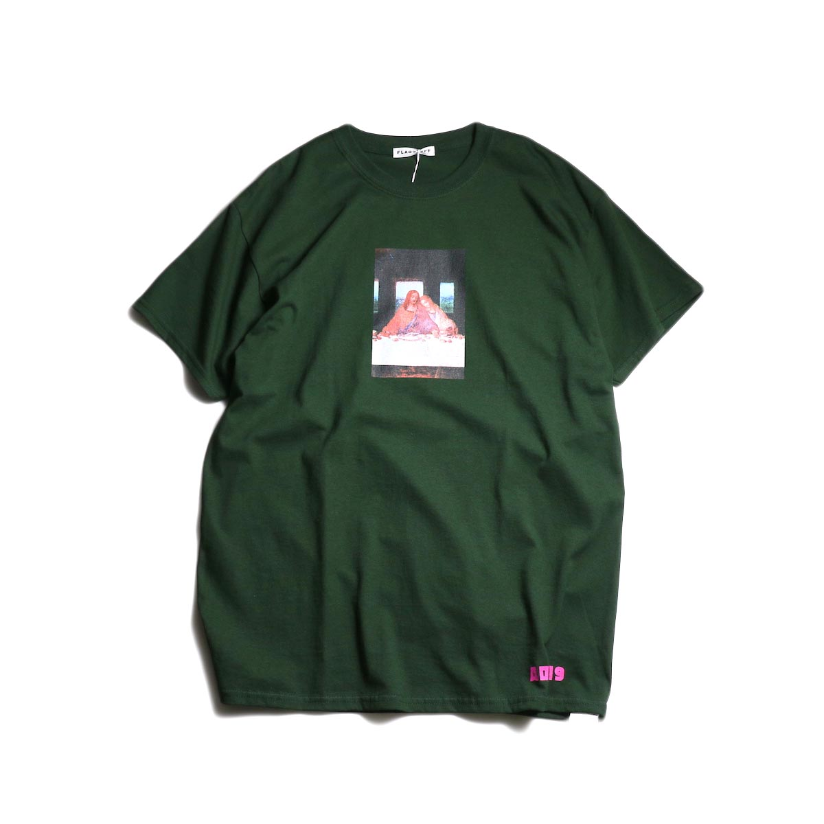 "F-LAGSTUF-F  / ""Party"" Tee -Green"