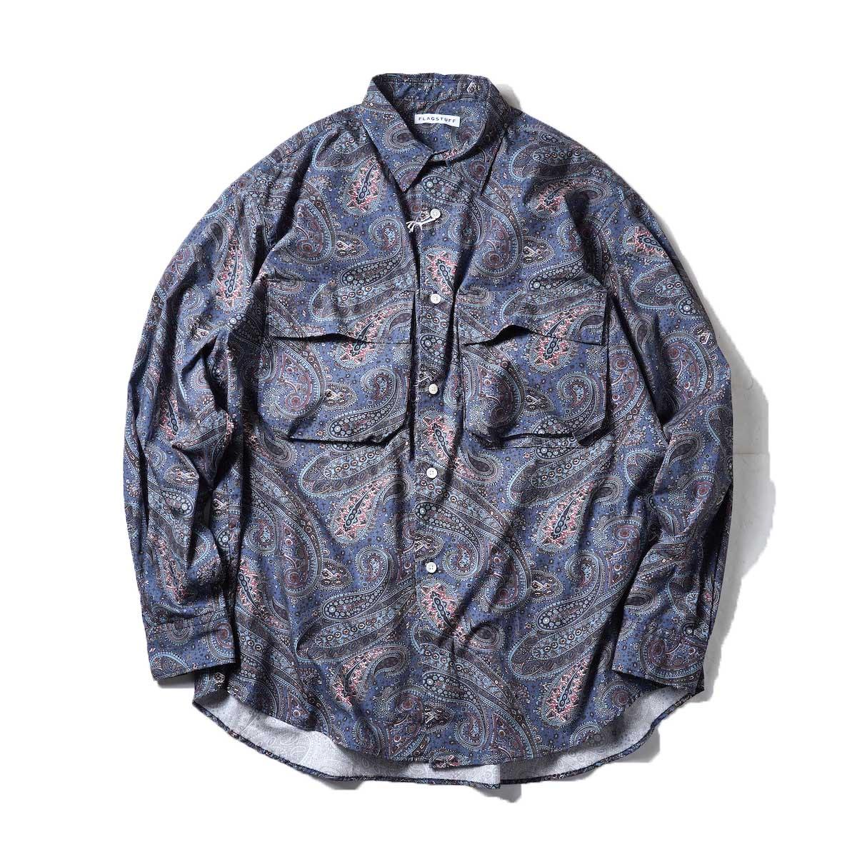 F-LAGSTUF-F / PAISLEY L/S SHIRTS (Blue)