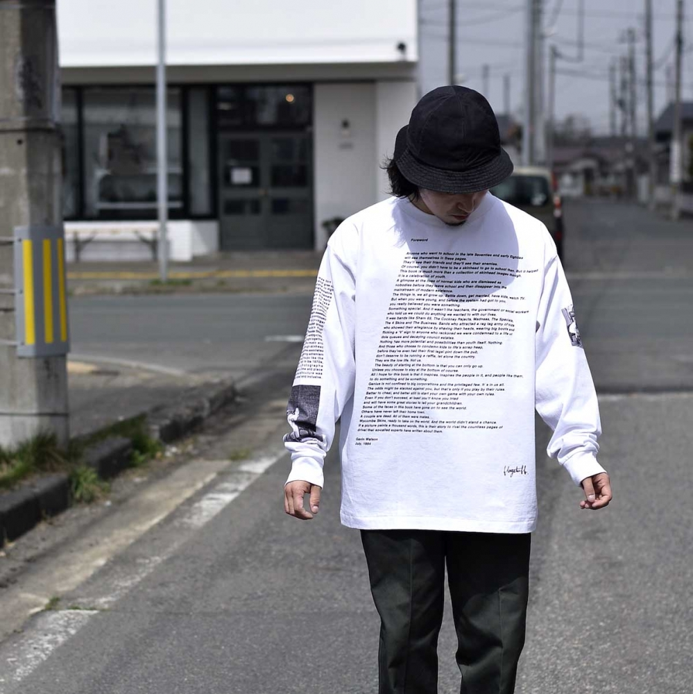 F-LAGSTUF-F / L/S TEE STYLE3 (White)着用1