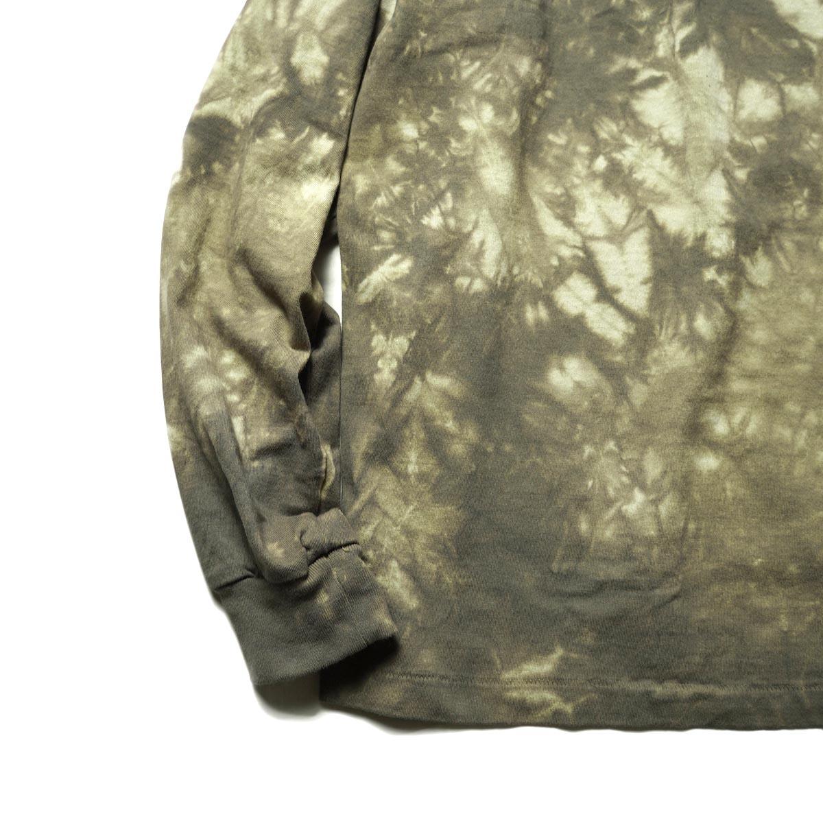 F-LAGSTUF-F / TIE DYE L/S Tee (OD)裾、袖