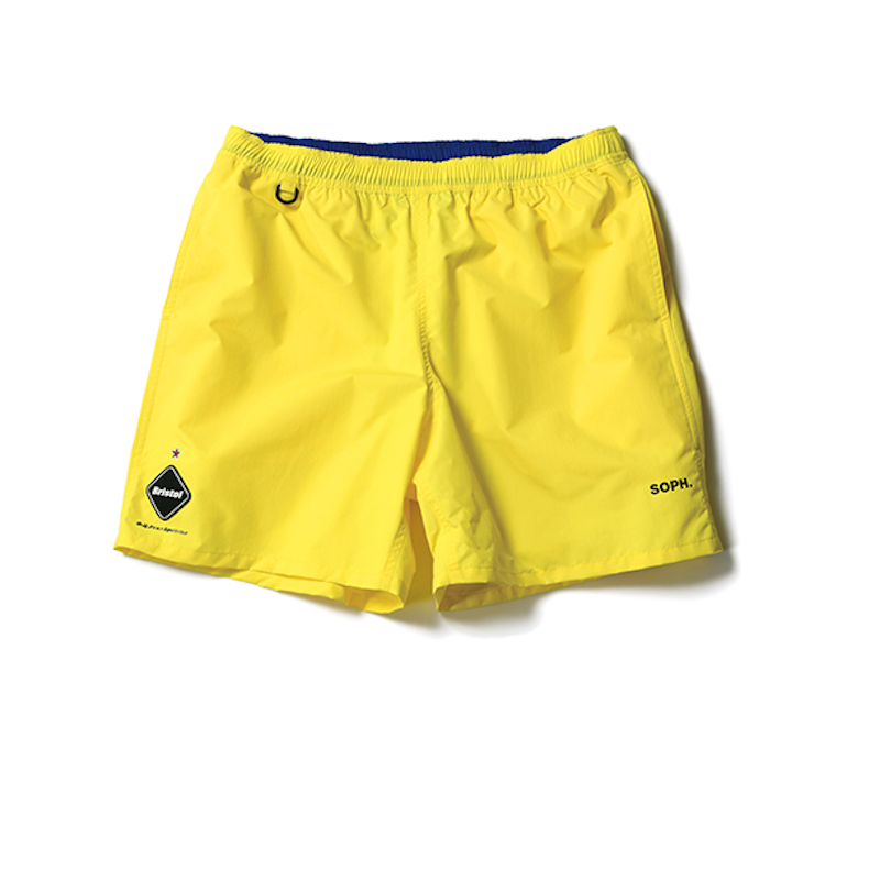F.C.Real Bristol / NYLON EASY SHORTS -yellow