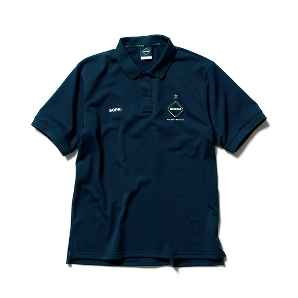 F.C.Real Bristol / BIG LOGO POLO -navy