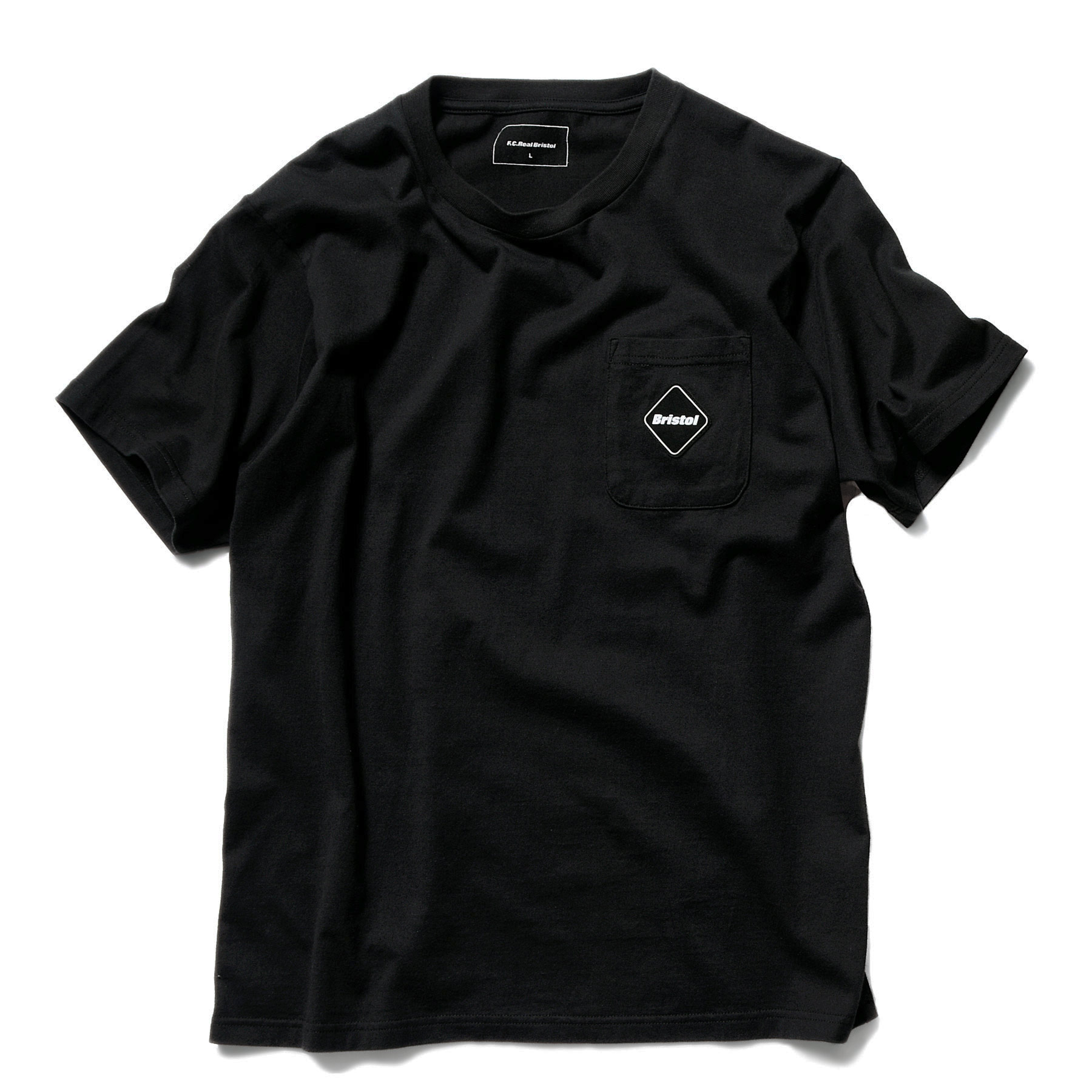 F.C.Real Bristol / CAMOUFLAGE BIG LOGO POCKET TEE -black