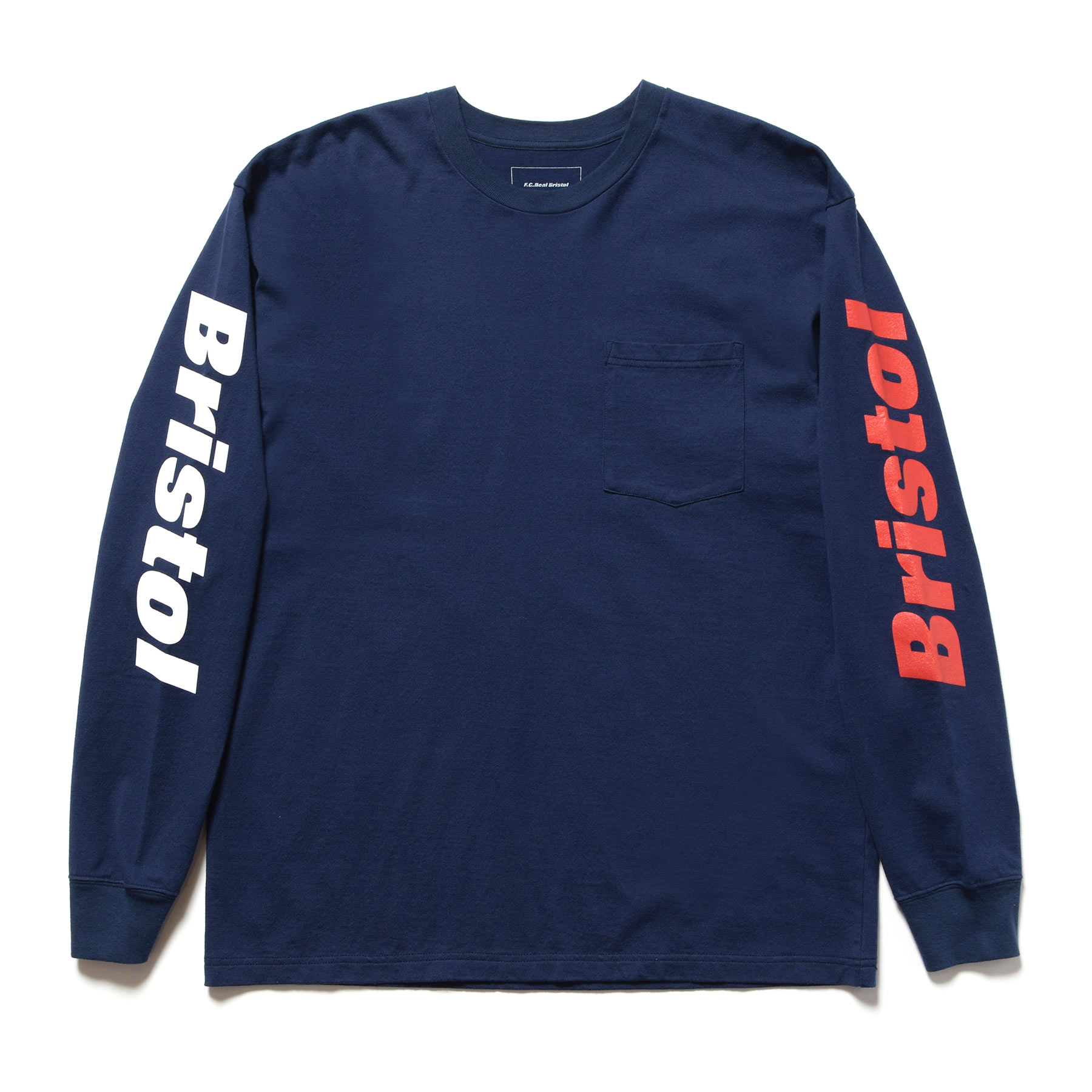 F.C.Real Bristol / L/S COLOR COMBINATION TEE -navy