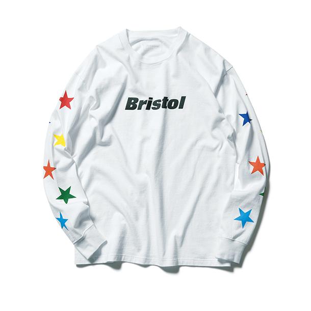 F.C.Real Bristol / MULTI COLOR STAR L/S TEE -white