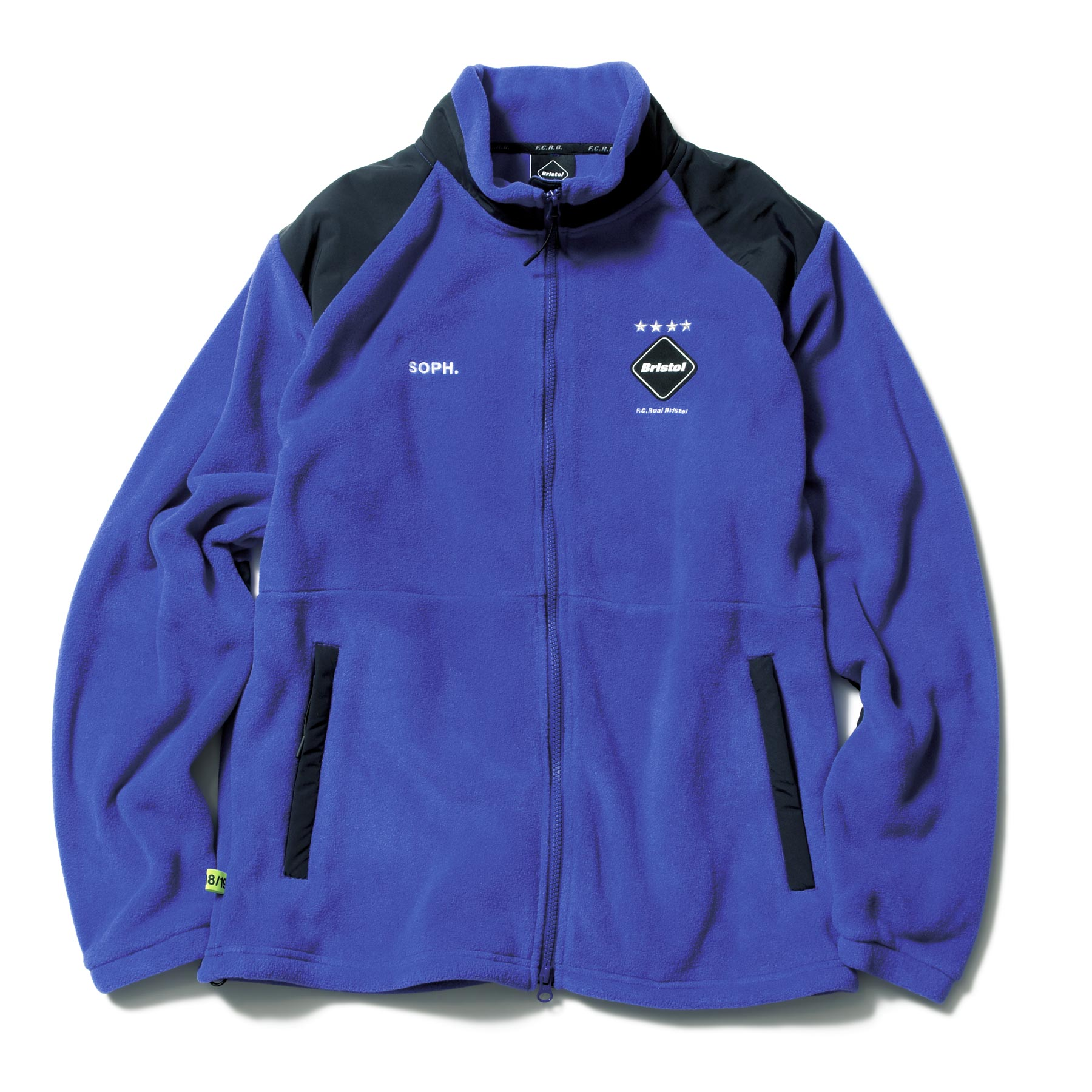 F.C.Real Bristol / POLARTEC FLEECE STAND COLLAR BLOUSON -BLUE