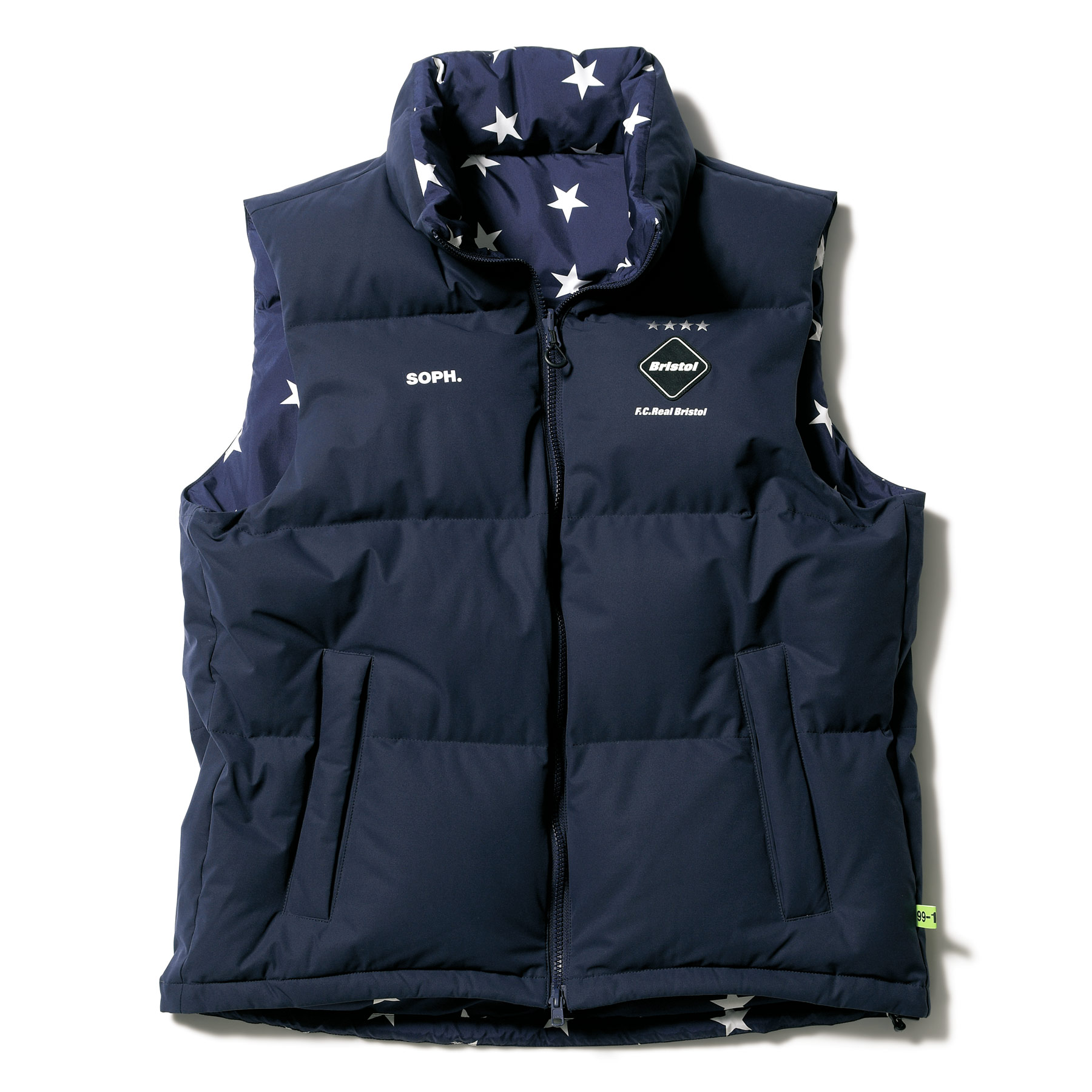 F.C.Real Bristol / REVERSIBLE DOWN VEST -NAVY
