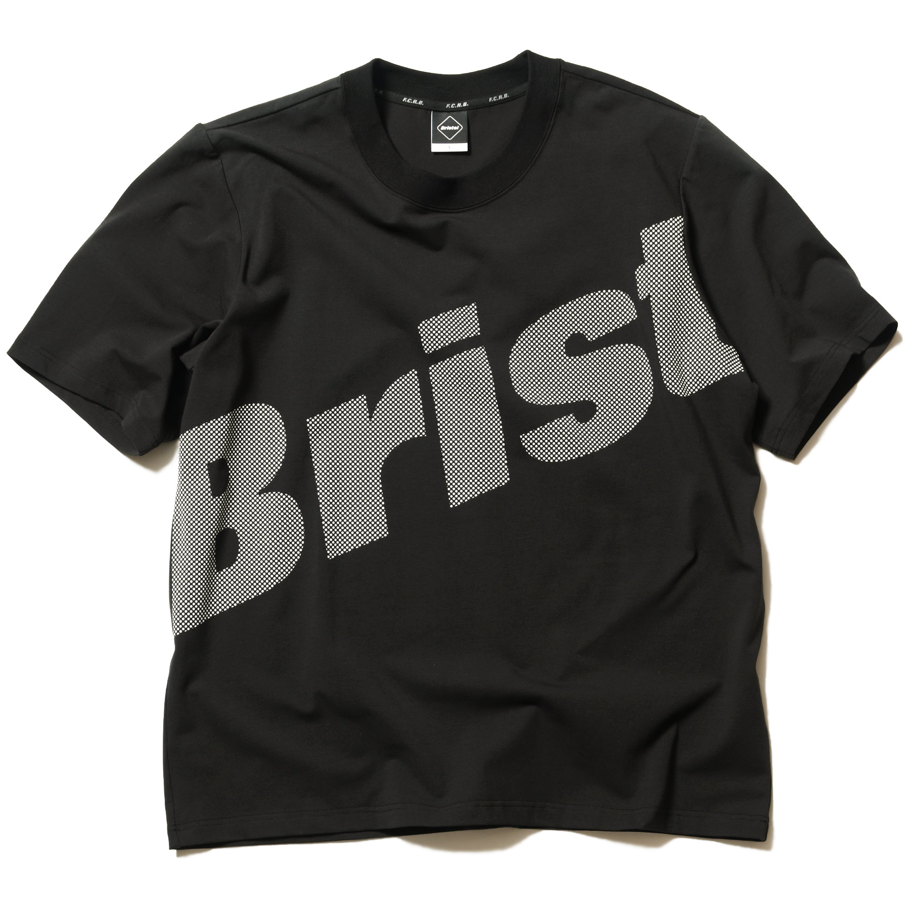 F.C.Real Bristol / BIG LOGO RELAX FIT TEE -A(Black / White)
