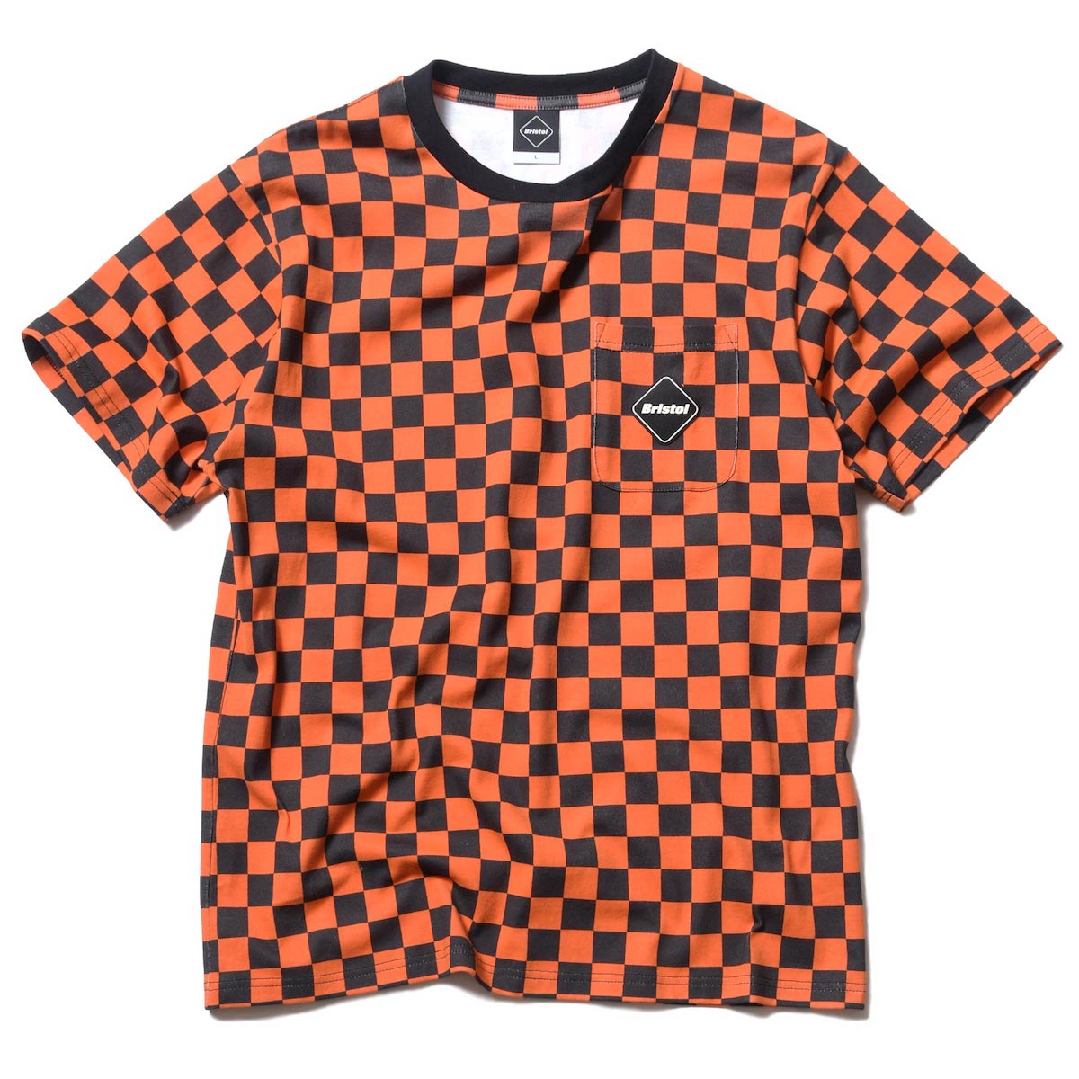 F.C.Real Bristol / CHECKER POCKET TEE -Orange