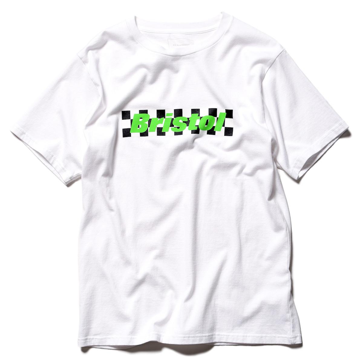 F.C.Real Bristol / CHECKER BOX LOGO TEE -A(White/Green)