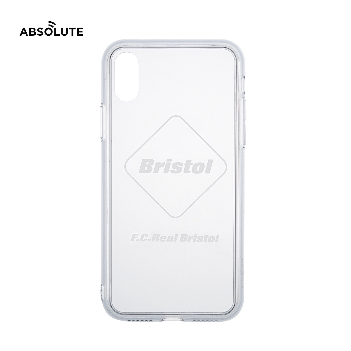 F.C.Real Bristol / ABSOLUTE EMBLEM PHONE CASE for iPhone X / XS (White)