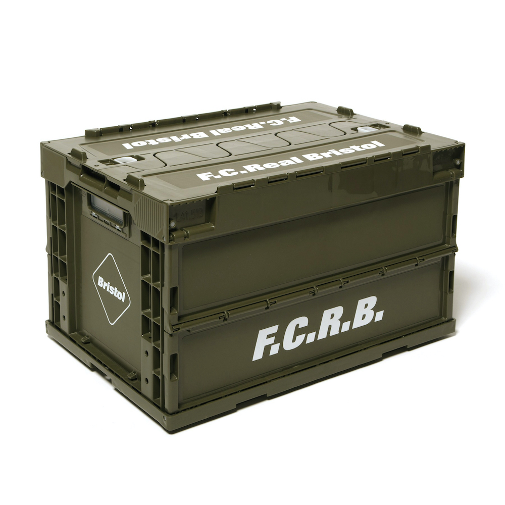 F.C.Real Bristol / LARGE FOLDABLE CONTAINER (Khaki)
