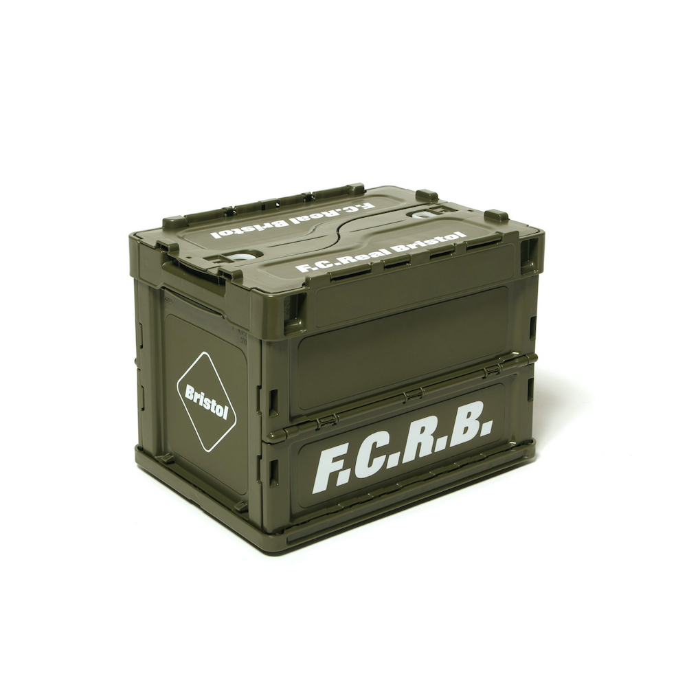 F.C.Real Bristol / SMALL FOLDABLE CONTAINER (Khaki)