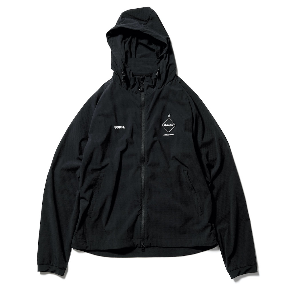 F.C.Real Bristol / STRETCH LIGHT WEIGHT HOODED BLOUSON (Black)正面