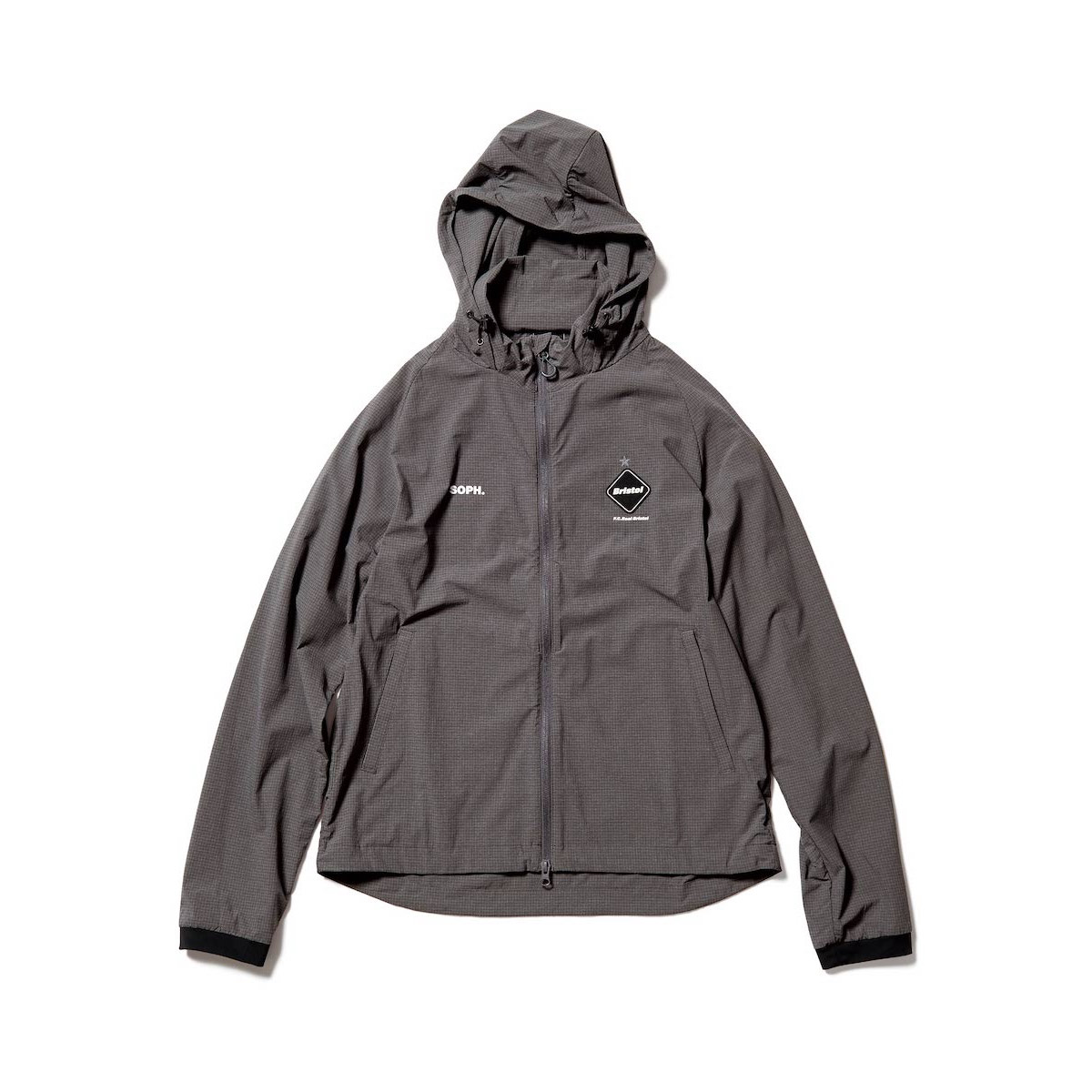 F.C.Real Bristol / STRETCH LIGHT WEIGHT HOODED BLOUSON (Gray)正面