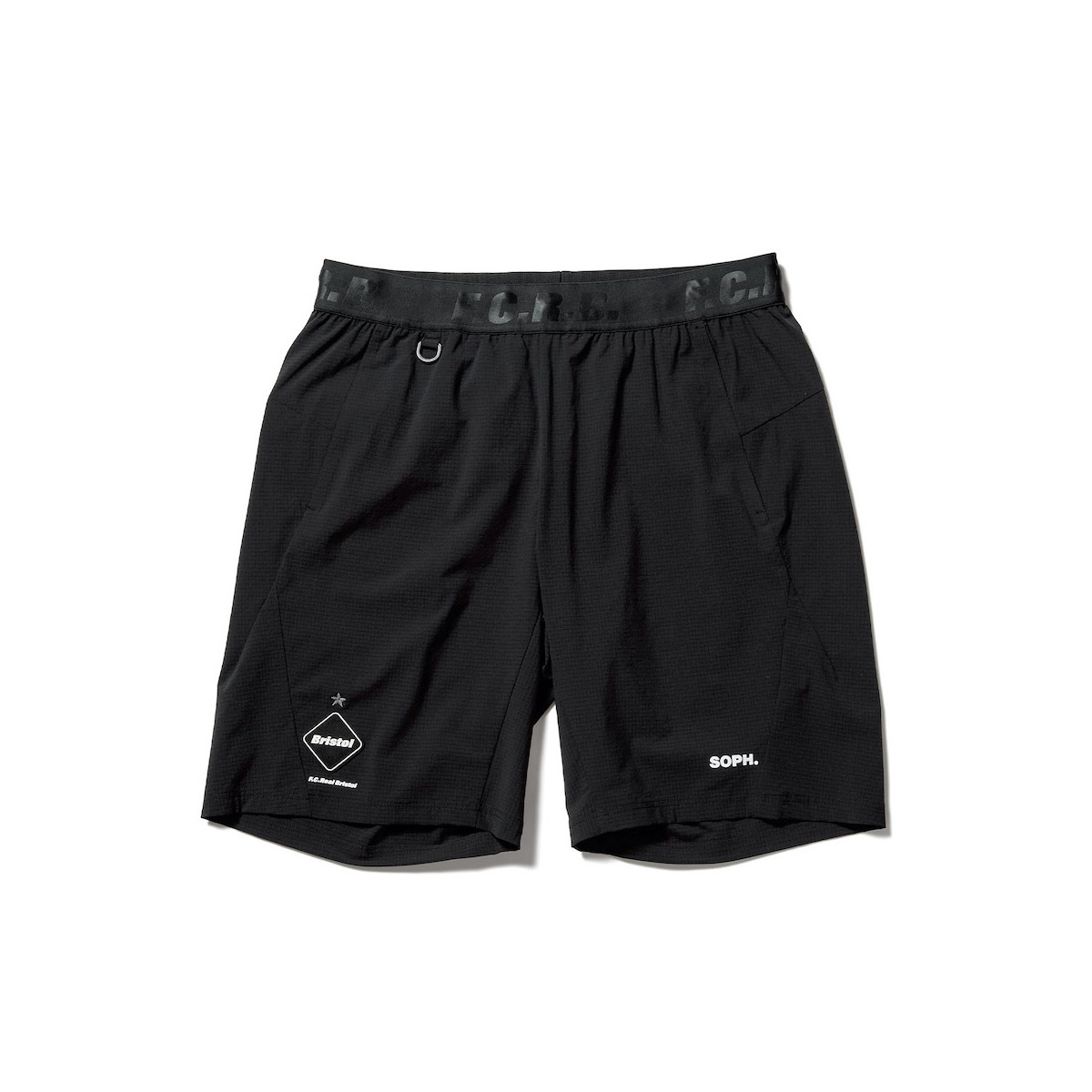 F.C.Real Bristol / STRETCH LIGHT WEIGHT EASY SHORTS (Black)正面