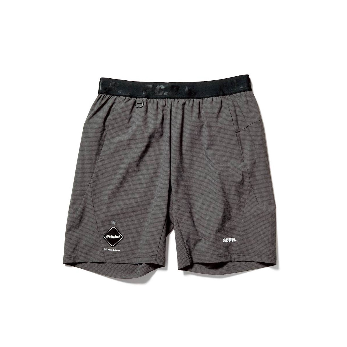 F.C.Real Bristol / STRETCH LIGHT WEIGHT EASY SHORTS (Gray)正面