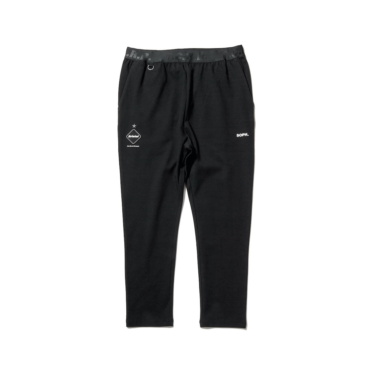 F.C.Real Bristol / RELAX FIT LONG PANTS (Black)正面