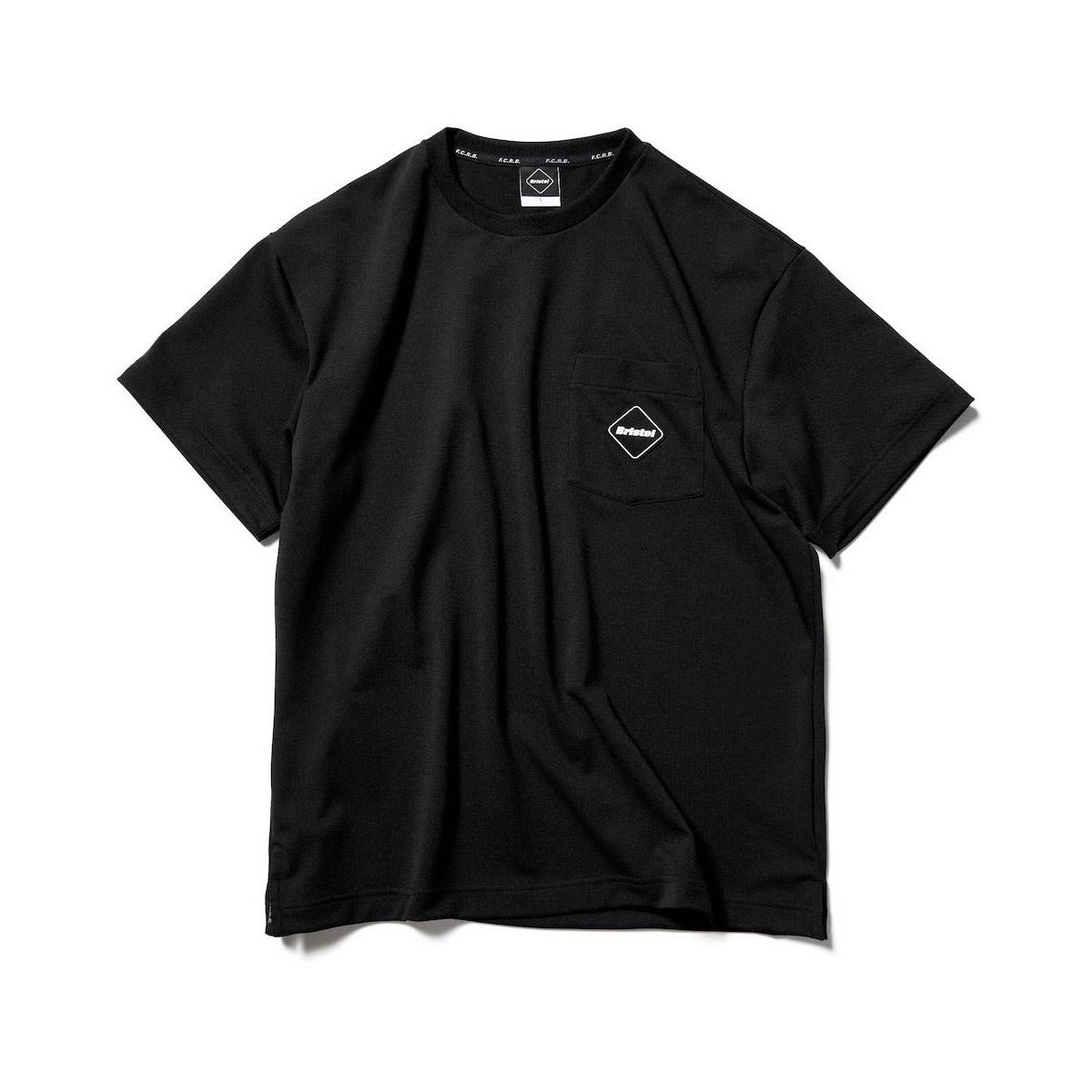 F.C.Real Bristol / SEED STITCH POCKET TEE (Black)正面
