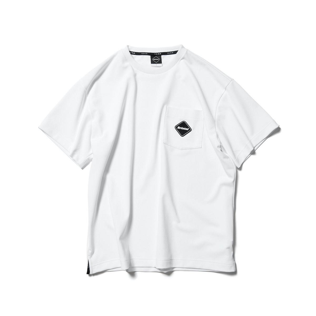 F.C.Real Bristol / SEED STITCH POCKET TEE (White)正面